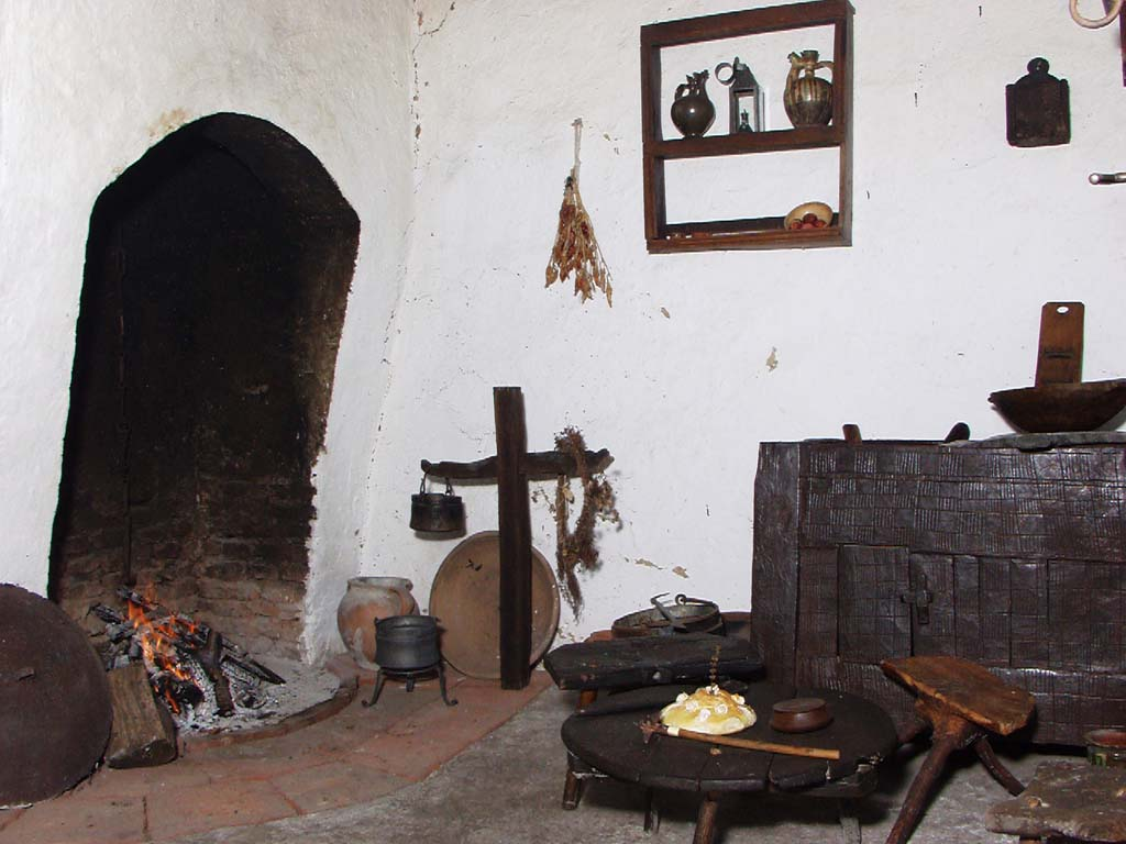 Hearth in the Berčinovac house